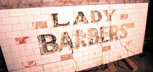 Lady Barbers sign